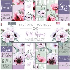 The Paper Boutique - Pretty Poppies 8x8 Embellishments Pad