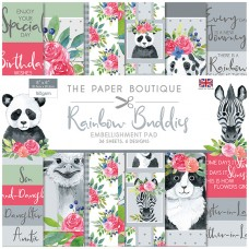 The Paper Boutique - Rainbow Buddies 8x8 Embellishments Pad