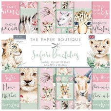 The Paper Boutique - Safari Buddies 8×8 Embellishments Pad
