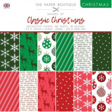The Paper Boutique Christmas – Shades Of Classic Christmas 8 in x 8 in Pad