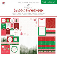 The Paper Boutique Christmas – Shades Of Classic Christmas 8 in x 8 in Project Pad