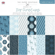 The Paper Boutique Christmas – Shades Of Ice 8×8 Pad