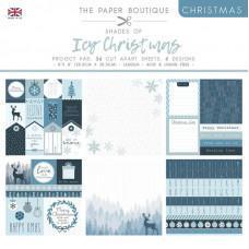 The Paper Boutique Christmas – Shades Of Ice 8×8 Project Pad