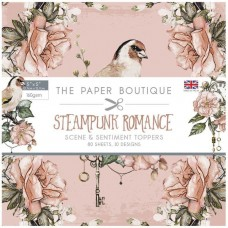 The Paper Boutique - Steampunk Romance 5x5 Sentiments Pad