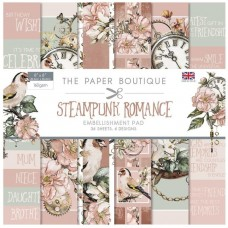 The Paper Boutique - Steampunk Romance 8x8 Embellishments Pad