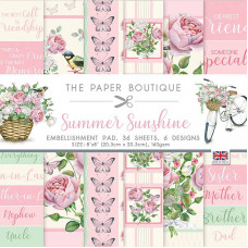The Paper Boutique - Summer Sunshine 8×8 Embellishments Pad