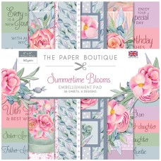 The Paper Boutique - Summertime Blooms - 8x8 Embellishments Pad