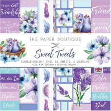 The Paper Boutique - Sweet Tweets 8×8 Embellishments Pad