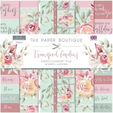 The Paper Boutique - Tranquil Gardens 8×8 Embellishments Pad