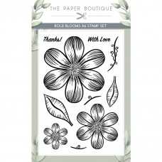 The Paper Boutique - Bold Blooms A6 Stamp Set