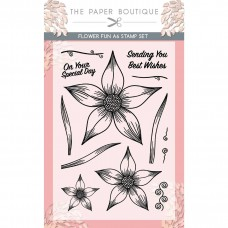 The Paper Boutique - Flower Fun A6 Stamp Set