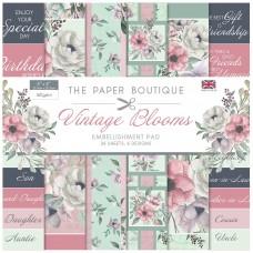 The Paper Boutique - Vintage Blooms - 8×8 Embellishments Pad