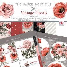 The Paper Boutique - Vintage Florals Paper Kit