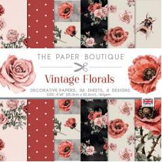 The Paper Boutique - Vintage Florals 8×8 Paper Pad