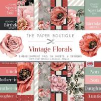 The Paper Boutique - Vintage Florals 8×8 Embellishments Pad