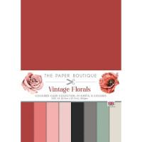 The Paper Boutique - Vintage Florals Colour Card Collection