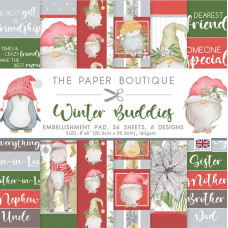 The Paper Boutique - Winter Buddies 8×8 Embellishments Pad