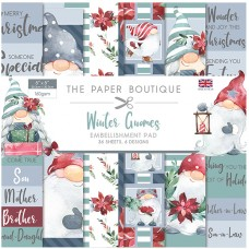 The Paper Boutique - Winter Gnomes 8x8 Embellishments Pad