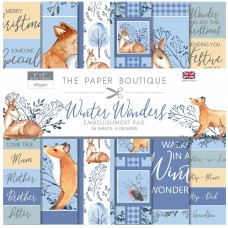 The Paper Boutique - Winter Wonders - 8×8 Embellishments Pad