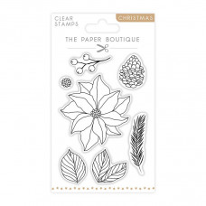 The Paper Boutique - Poinsettia Layering A6 Stamp Set