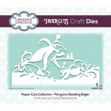 Festive Paper Cuts Collection -  Penguins Sledding