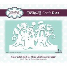 Festive Paper Cuts Collection - Three Little Snowman Edger