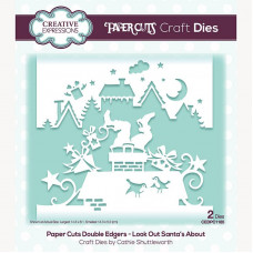 Paper Cuts - Look Out Santa's About Double Edger Craft Die