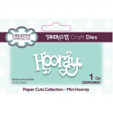 Paper Cuts Mini Craft Die - Hooray