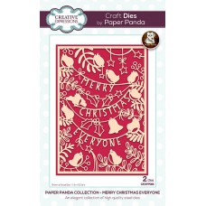 Paper Panda - Merry Christmas Everyone Craft Die - DISPATCHING TUESDAY 14th JULY