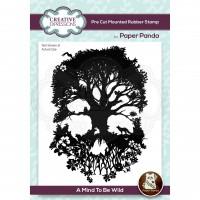 Paper Panda - A Mind To Be Wild Pre Cut Rubber Stamp