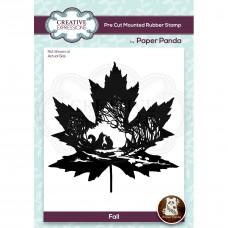 Paper Panda - Fall Pre Cut Rubber Stamp