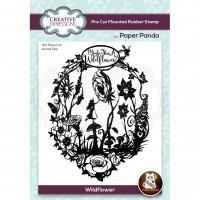Paper Panda - Wildflower Pre Cut Rubber Stamp