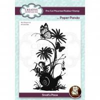 Paper Panda - Snails Pace Pre Cut Rubber Stamp