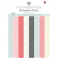 The Paper Tree - Springtime Party A4 Backing Papers