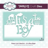Paper Cuts Collection - It's a Boy Edger - DISPATCHING THURSDAY 21st FEBRUARY