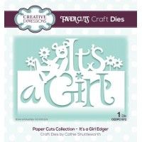 Paper Cuts Collection - It's a Girl Edger