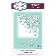 Paper Cuts Corner Craft Die - Rose Corner