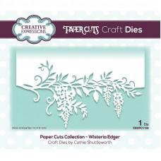Paper Cuts Floral Edger Craft Die - Wisteria