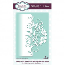 Paper Cuts Edger Craft Die - Climbing Clematis