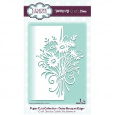 Paper Cuts Edger Craft Die - Daisy Bouquet