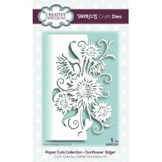 Paper Cuts Collection - Sunflower Edger
