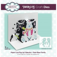 Paper Cuts Pop Up Collection - Polar Bear Family