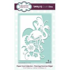 Paper Cuts Edger Craft Die - Flamingo Summer