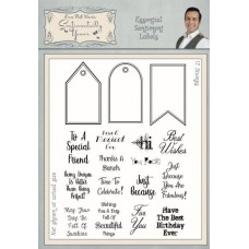 Essential Sentiment Labels A5 Clear Stamp Set