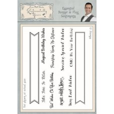 Essential Banner & Flag Sentiments A5 Clear Stamp Set