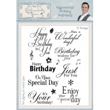 Inkspirational Birthday Sentiments A5 Clear Stamp Set