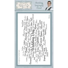 Wedding Sentiment Cloud Rubber Stamp