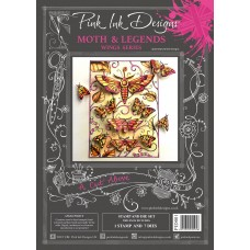Pink Ink Designs - A Cut Above - Moth & Legends Stamp & Die Set