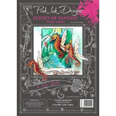Pink Ink Designs - A Cut Above - Flight of Fantasy Stamp & Die Set