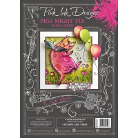 Pink Ink Designs - A Cut Above - Pigs Might Fly Stamp & Die Set